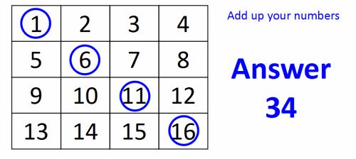 A 4×4 Grid Prediction Math Magic Trick – Sunday Puzzle