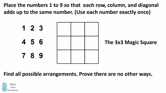 How Many 3×3 Magic Squares Are There? Sunday Puzzle – Mind Your