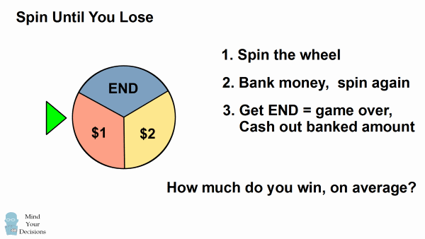 Spin Until You Lose – Sunday Puzzle – Mind Your Decisions