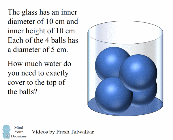 Can You Solve The Water Glass And 4 Balls Puzzle? – Mind