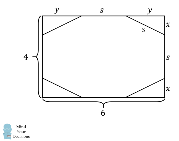 Octagon Cut From Rectangle Mind Your Decisions